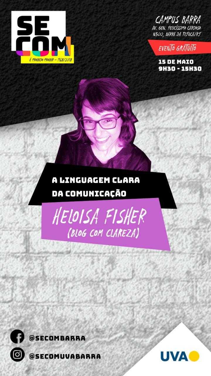 flyer SECOM UVA - Oficina Linguagem Clara