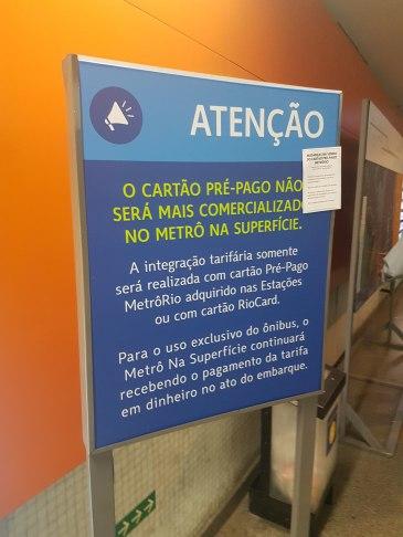 Dentro da estação Botafogo